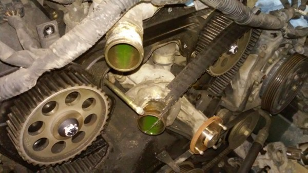 Broken timing belt on a Toyota Rav4 at The Shop Auto Repair Boise